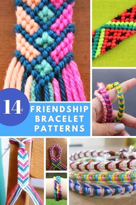 Friendship Bracelet Patterns - 14 DIY Tutorials To Do At Home or On The Go