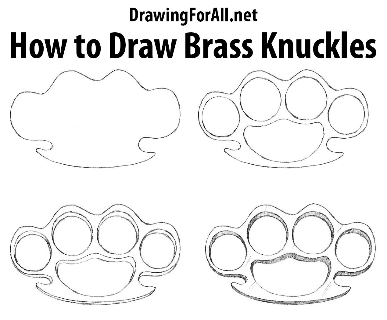 How to Draw Brass Knuckles