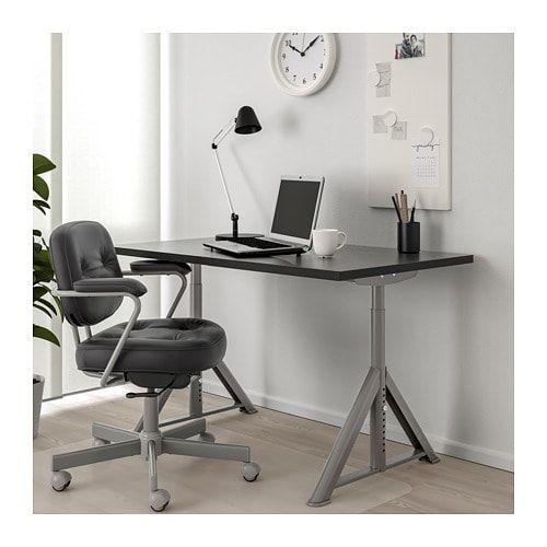 IDÅSEN Black, Dark Grey, Desk, 120x70 Cm - IKEA