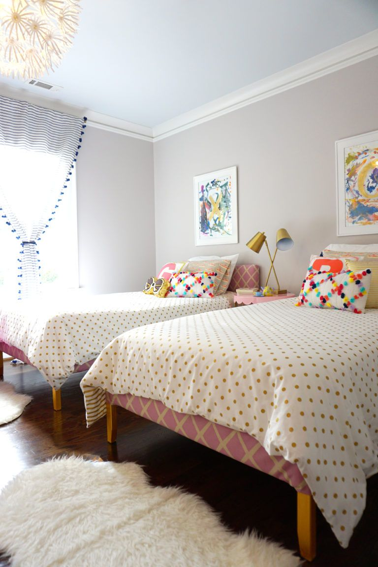 Funky Fresh Toddler / Big Girl Bedroom Toddler bedroom