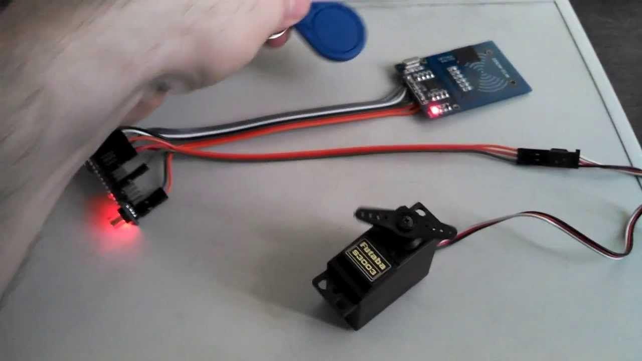 Rfid Door Lock Using A Arduino Nano And A Rc522 Rfid Reader Arduino Rfid Arduino Rfid