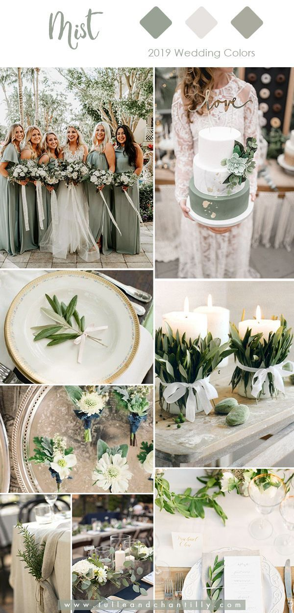 Top 10 Wedding Colors for 2019 Trends with Bridesmaid Dresses 2