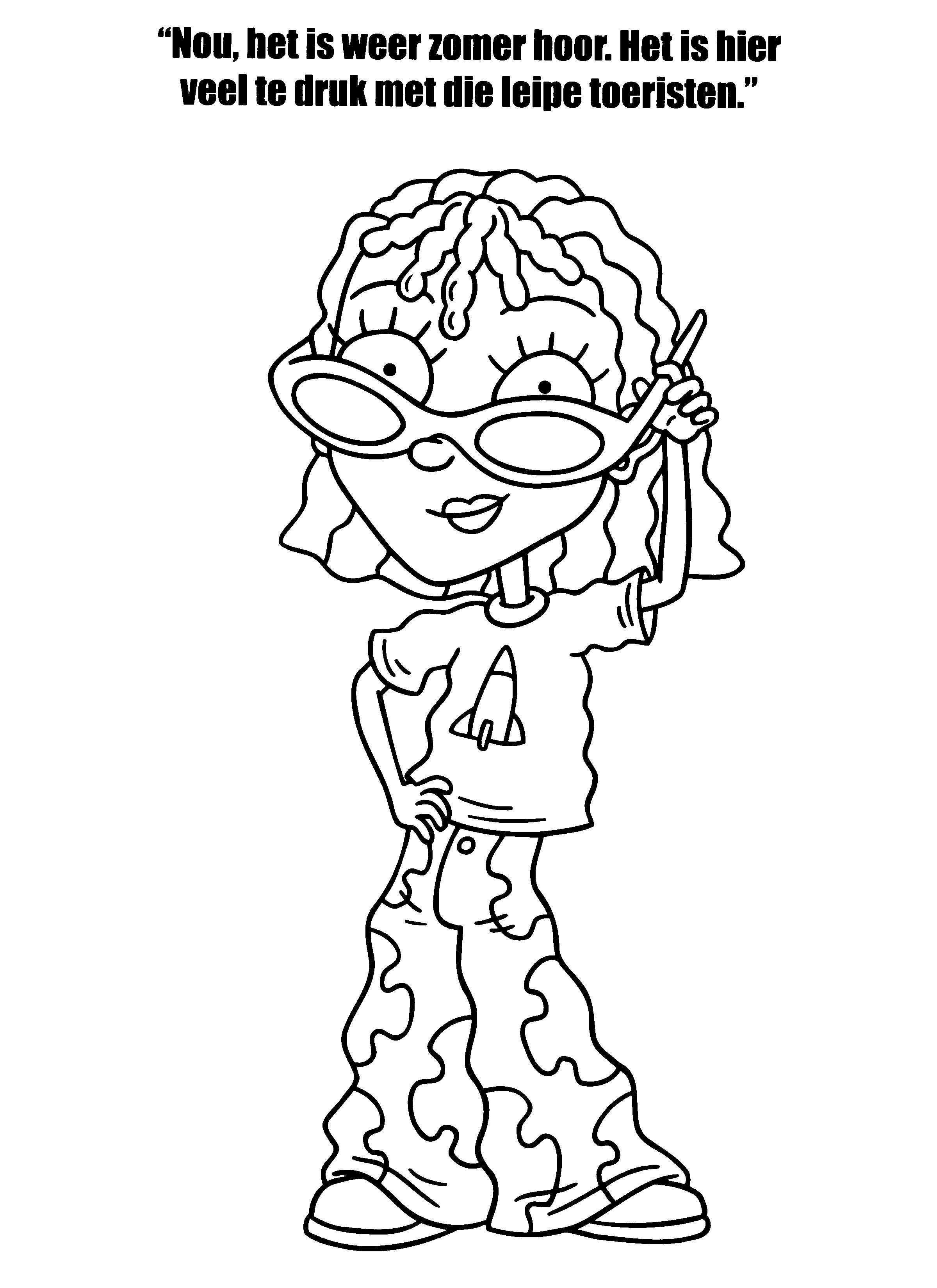 Desenhos para colorir para crianças. Desenhos para imprimir e colorir Rocket Power 16
