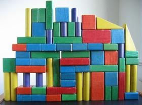 Vintage Playskool blocks. AP still plays with my set!