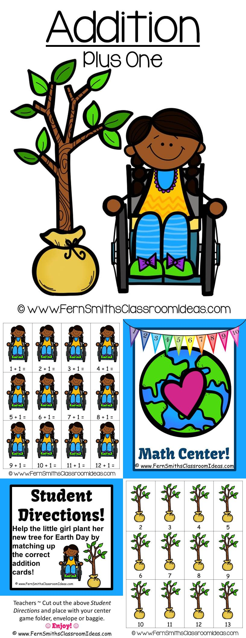 Quick And Easy To Make Plus Zero In Addition Center Game For Earth Day Add A Little Social Studies And Science Center Game Fern Smith S Classroom Ideas Math [ 2112 x 816 Pixel ]