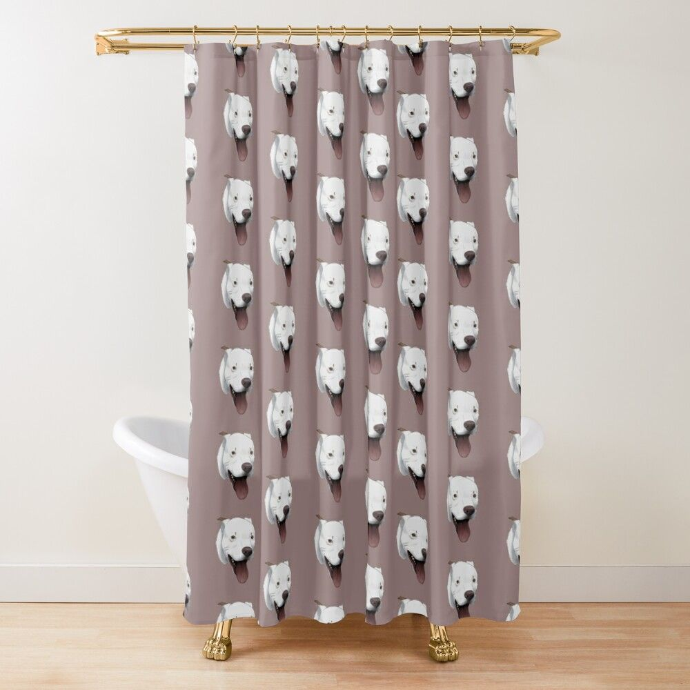 Dog Pitbull Resting Pit Face Vintage Shower Curtain By Hassan203312 In 2020 Vintage Shower Curtains Pitbulls