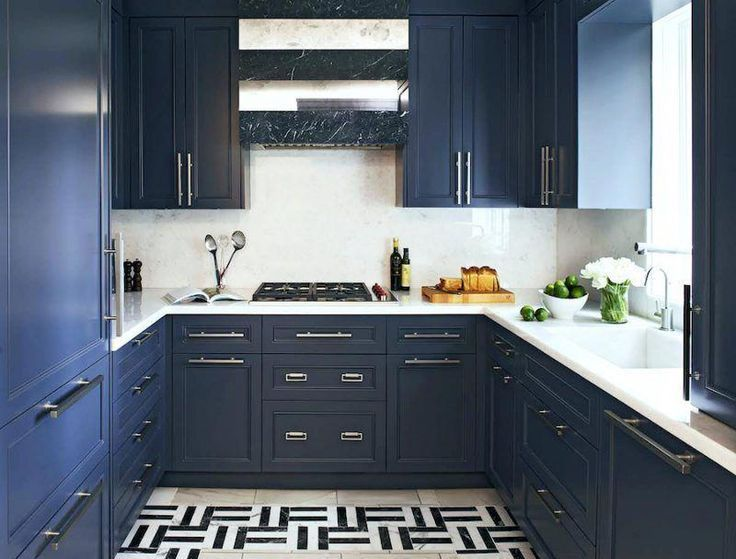 Two Blue Galley Kitchens #ikeagalleykitchen Two Blue Galley Kitchens  #galley #kitchens #ikeagalleykitchen