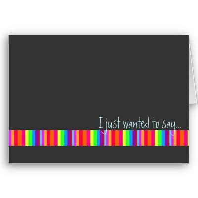 Rainbow Stripe Happy Birthday Card Customize C 5178 Designs