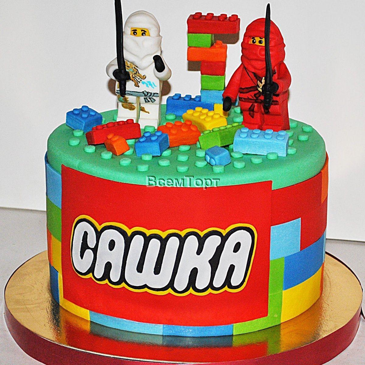 a30e39288 Торт Лего ниндзя. Заказ торта в Москве на день рождения для детей ...