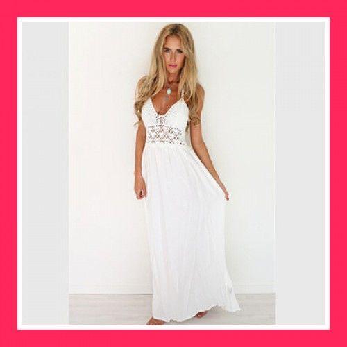 Csinos fehér maxi ruha S 024ce3153e