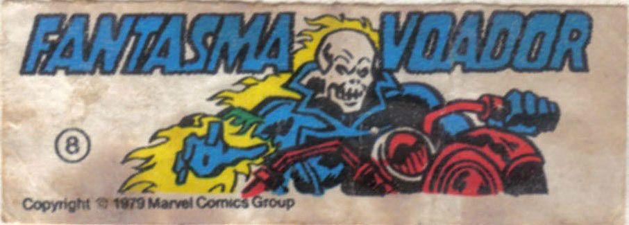 Fantasma Voador - Figurinhas da Marvel no chiclete - Anos 80