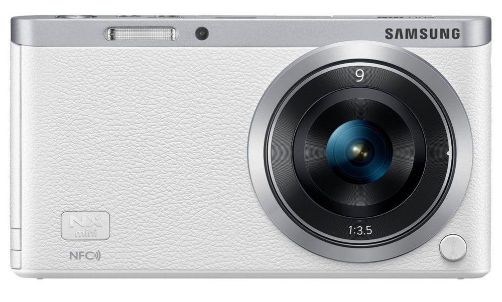 Samsung NX Mini Smart Systemkamera weiss NXF1ZZB1HDE, 9mm Objektiv, 20 MP #T1676