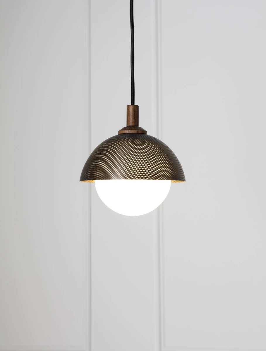 Dome Pendant 08 Perforated In 2020 Metal Lamp Hanging Lights Lighting Inspiration