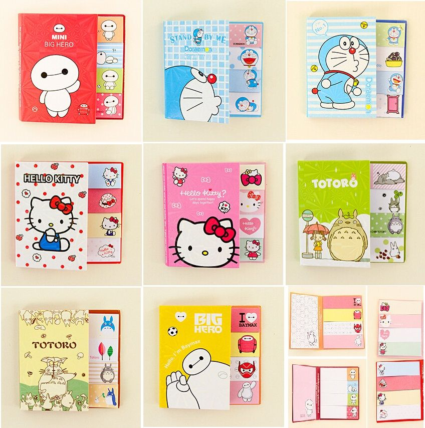 Cute Animal Bookmark Notebooks Writing Memo Pad Office School Supplies Scrapbook Stickers Kids Stationery Note Page Flags Gift Easy To Lubricate Notebooks & Writing Pads