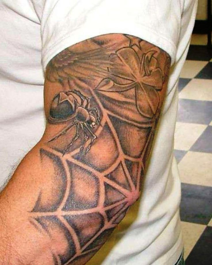 What does spider web tattoo on elbow mean apologise, but