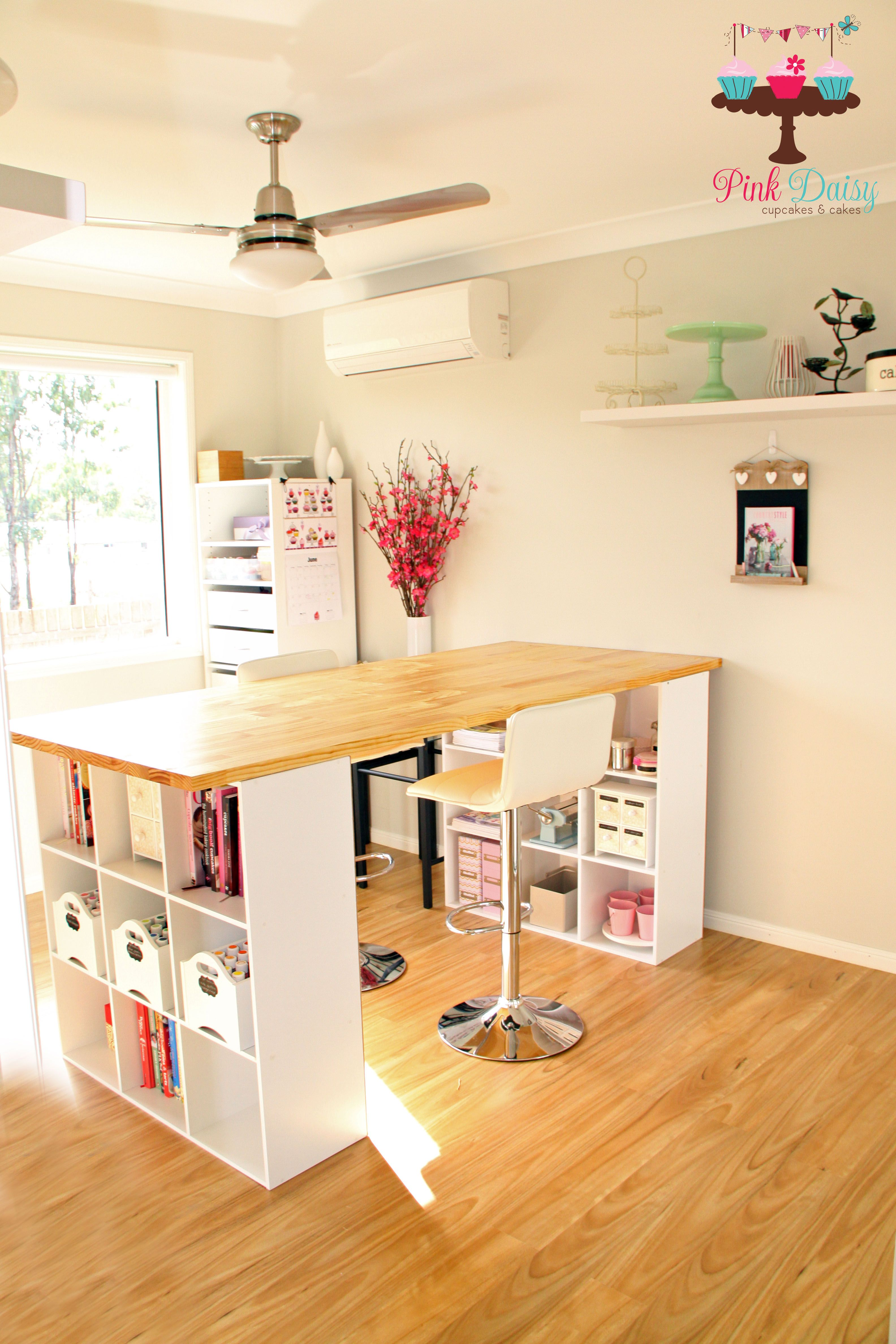 My Renovated Spare Bedroom Now Transformed Into My Cake Decorating Room Craft Room Design Craft Room Tables Small Craft Rooms