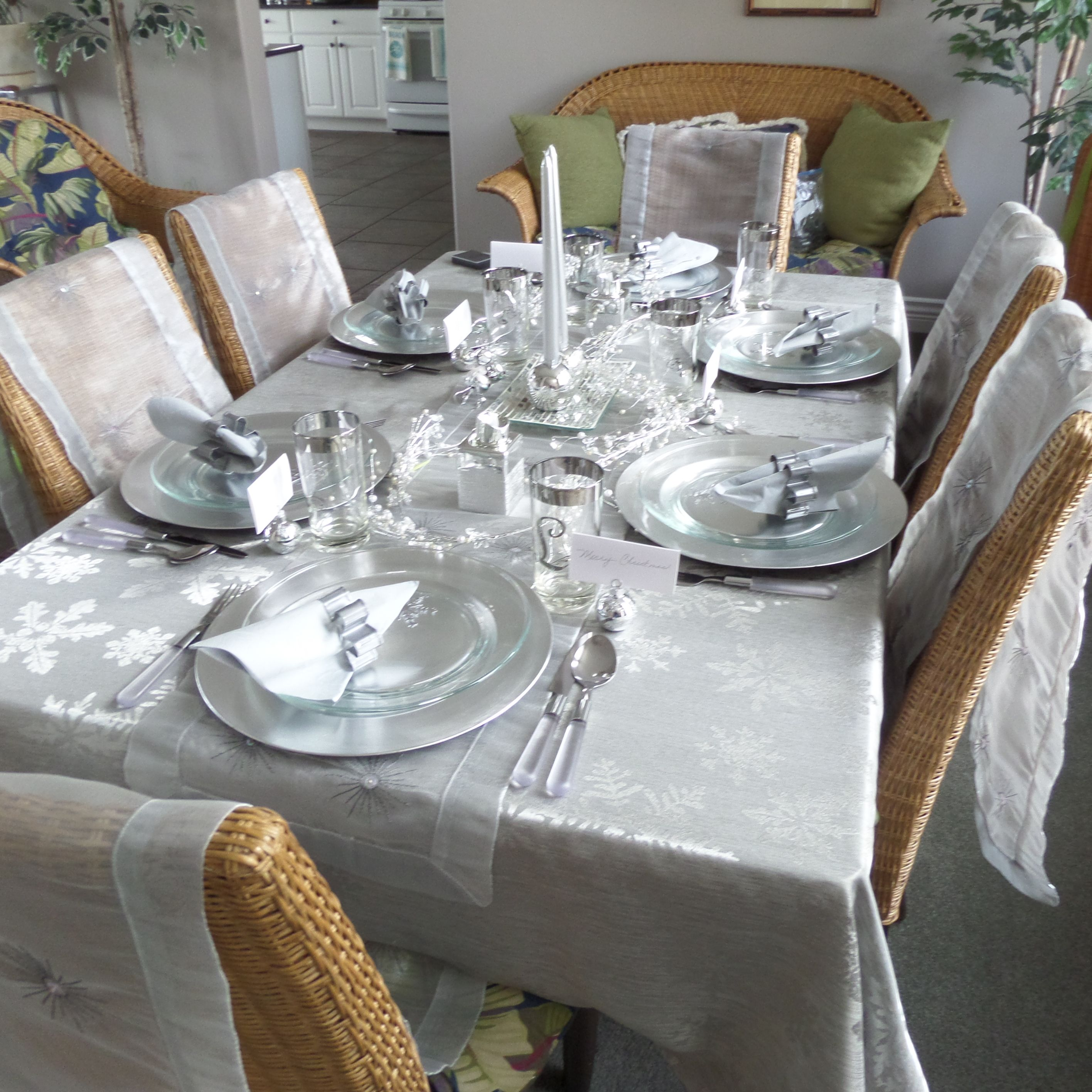 Table Setting One For My Christmas Tables The Table Cloth From