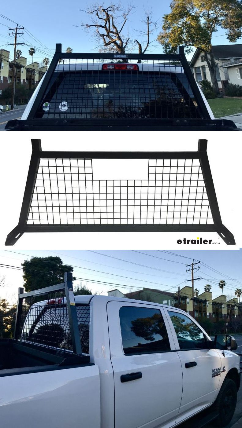 Maxxtow Maxxhaul Heavy Duty Headache Rack Black Powder Coated Steel Maxxtow Headache Rack Mt70234 Truck Bed Truck Bed Accessories Rear Window