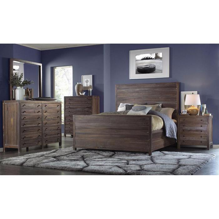 Townsend 4 Piece King Bedroom Set in Auburn | Nebraska Furniture ...