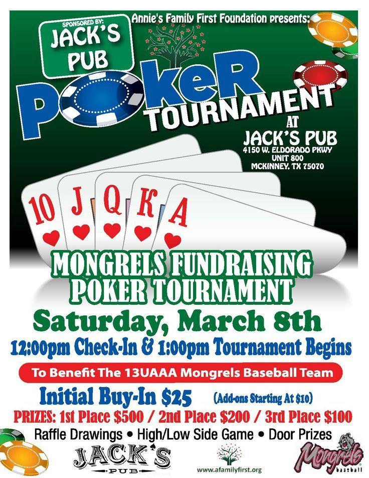 Poker tournament Fundraiser ideas Pinterest Casino party