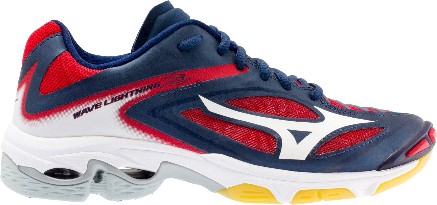 Mizuno Women S Wave Lightning Z3 Volleyball Shoes Size 11 5 Blue Red Volleyball Shoes Minimalist Shoes Best Basketball Shoes