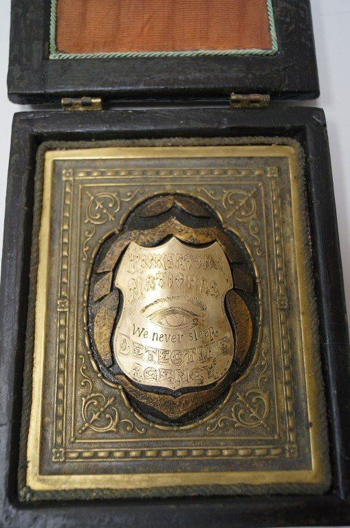 Detective Badge of Allan Pinkerton | Pinkerton National ...