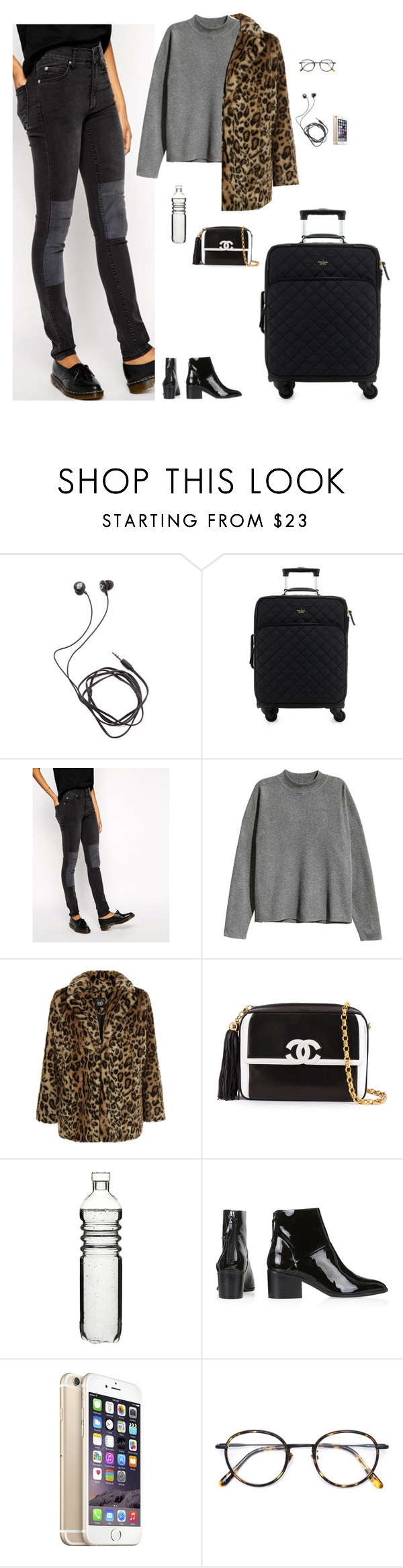"""""""Untitled #2027"""" by tayloremily218 on Polyvore featuring Diane Von Furstenberg, Kate Spade, Cheap Monday, H&M, New Look, Chanel, Dot & Bo, Topshop and Frency & Mercury"""