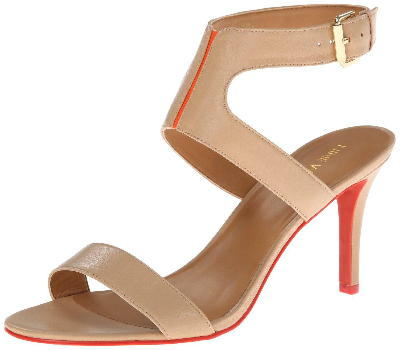Nine West Women's Izolla Leather Dress Sandal,Light Natural M US