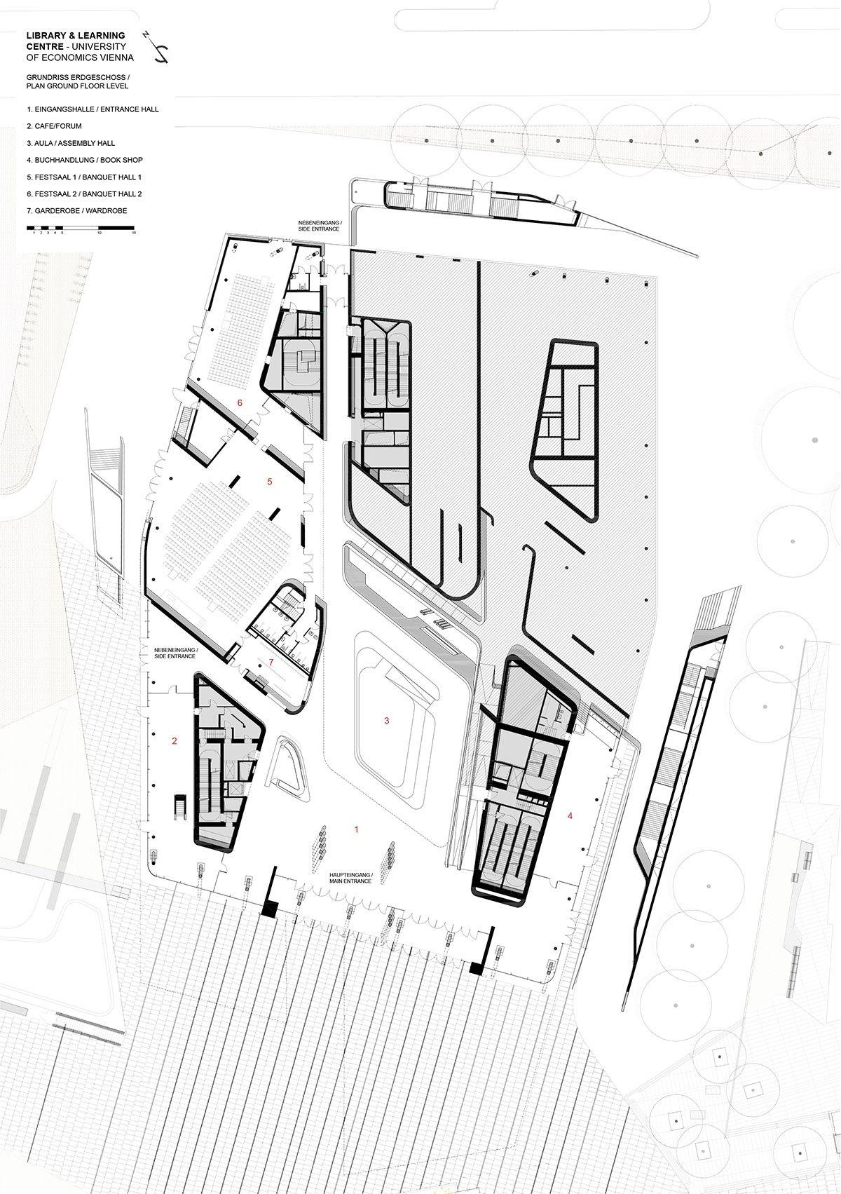 Zaha Hadid Vienna Economics Library Llc Gr Eg01 Print A3