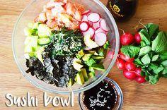 sushi bowl met zalm