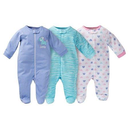 4aeebcf26b Gerber® Onesies® Baby Sleep N  Play Full Body Sleepwear - Zebra Print  Purple   Target