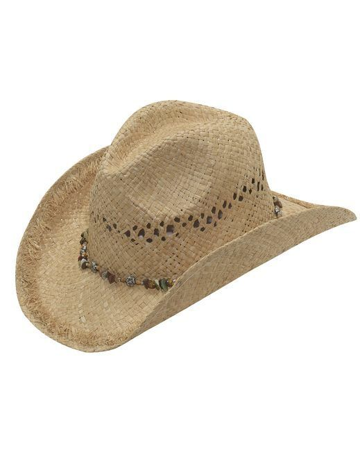 aacc7bfcac1 M F Western Products Women s Frayed Brim Raffia Hat - Tan