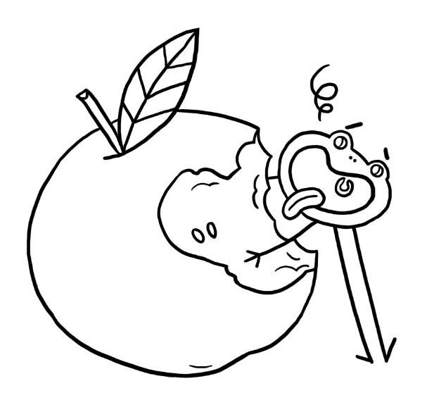 Coloriage Pomme Et Oignon Dessin Anime.Pomme Dessin A Colorier Coloriage Printable Pdf Jeu A