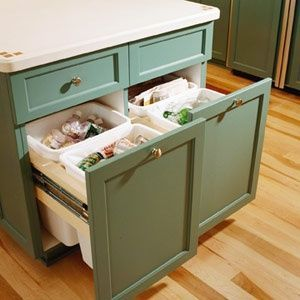 Trash Bin Storage Kitchen Island Home Design Ideas Kitchen Island Clever Kitchen Storage Home Kitchens Kitchen Storage Solutions