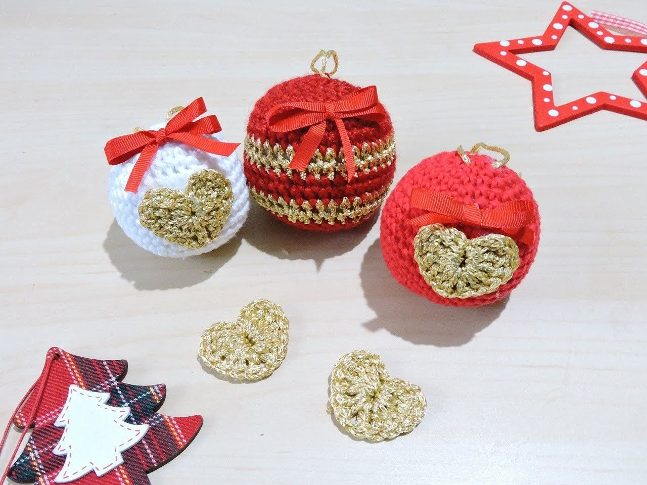 Bolas de Navidad de ganchillo - Crochet Christmas Ornaments