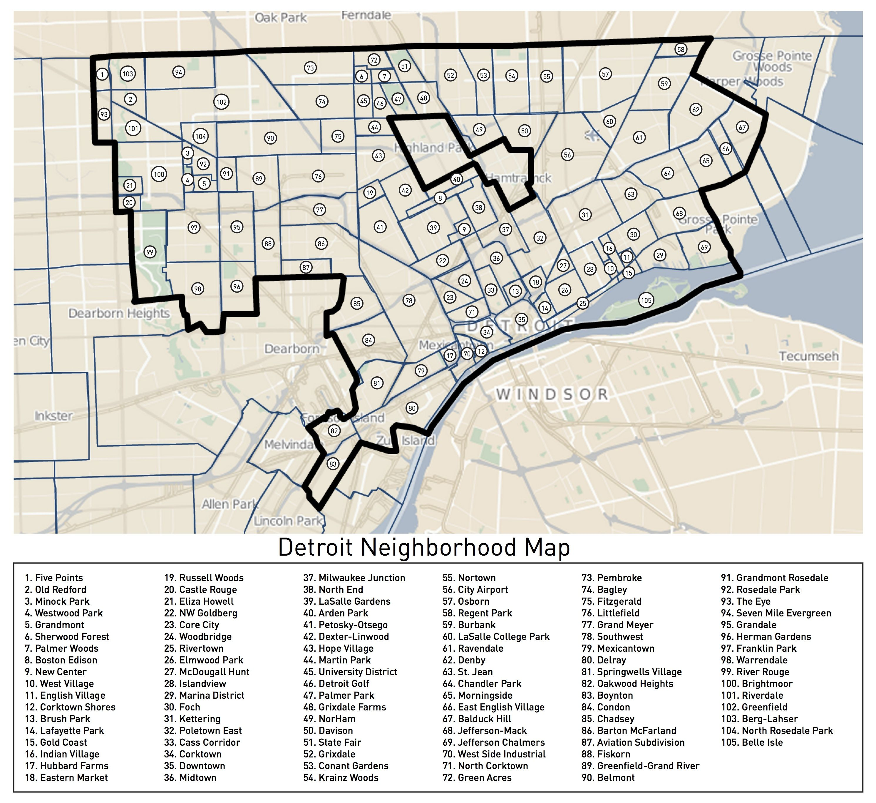 Finally a Complete Attempt at Mapping Detroits Neighborhoods Detroit