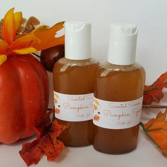 Halloween Wedding Gift Ideas: Pumpkin Spice Bath Gel, Rustic Wedding Reception Favors
