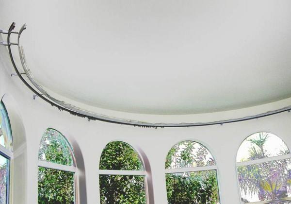 Install Bay Window Curtain Rod Single Flexible