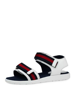 9713e2ed5a8 Gucci Leather Grip-Strap Sandals