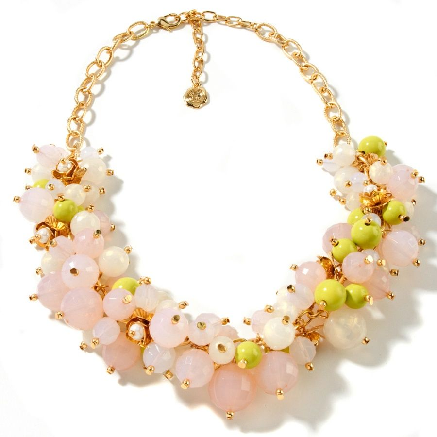 """R.J. Graziano """"Bouquet Bliss"""" Rosette Drop 18-1/4"""" Necklace Item: 117-153   Clearance Price: $27.95 HSN Price: $54.95 