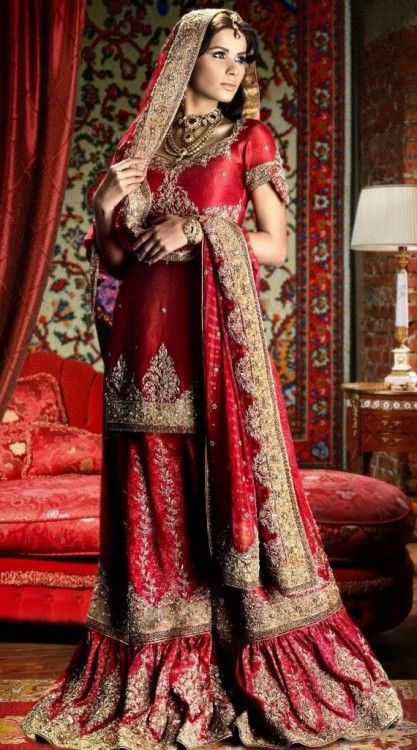 Indian Wedding Dress Traditional Color Is Red