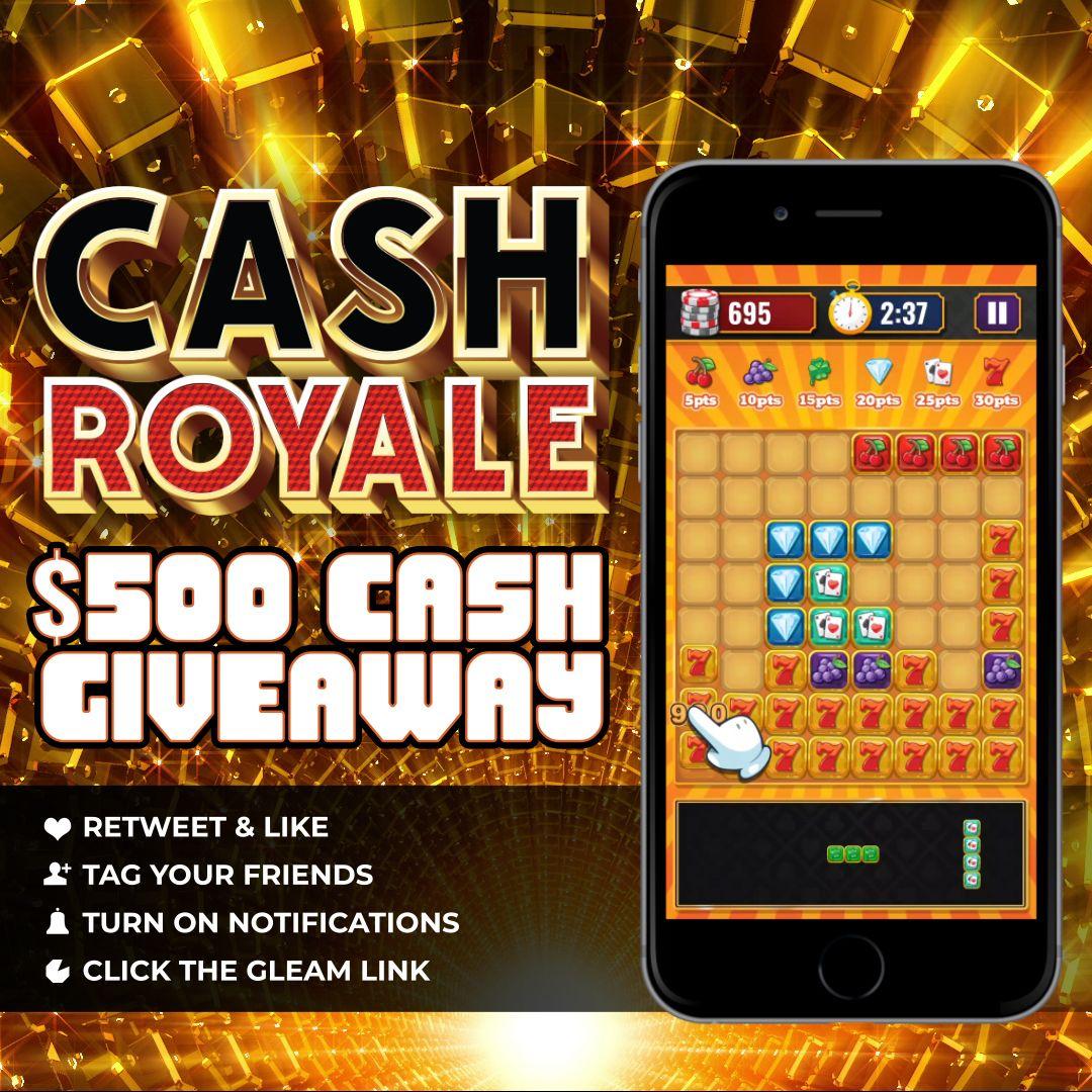 500 Cash Giveaway Cash Royale Block Puzzle Skillz Game