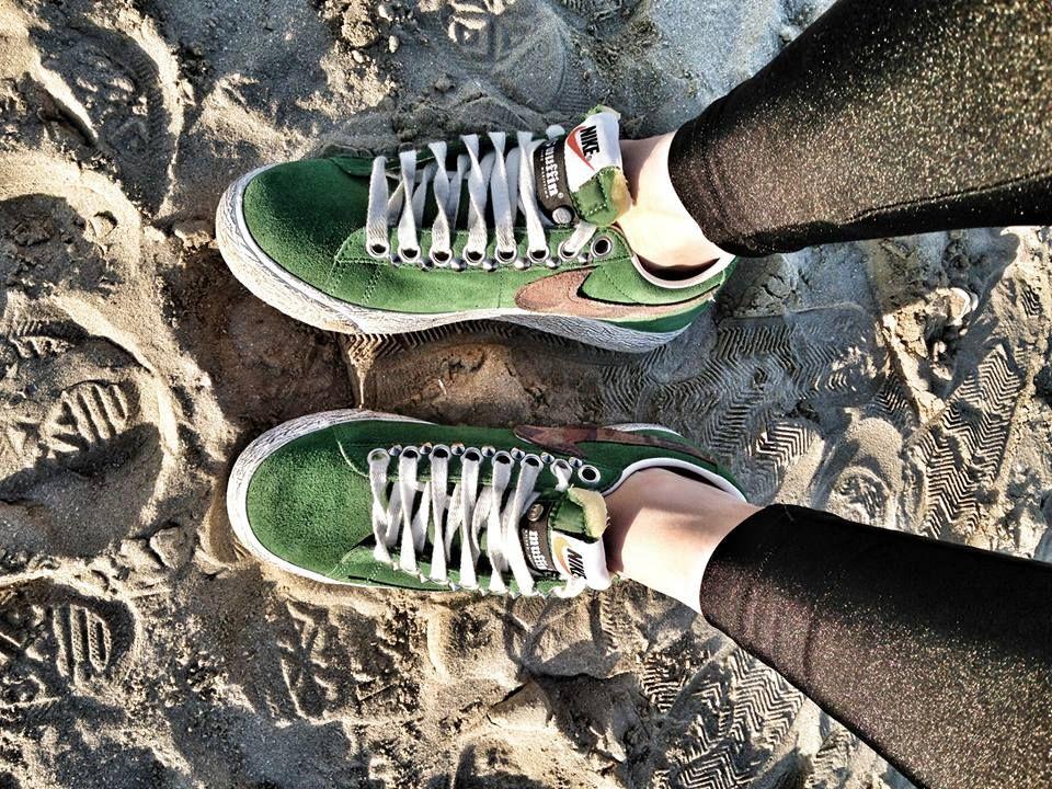 Nike Blazer Low Green Customized by #Muffin! #sneakers #nike #nikeblazer #style #fashion #muffinonline #muffinshop_it www.muffinshop.it