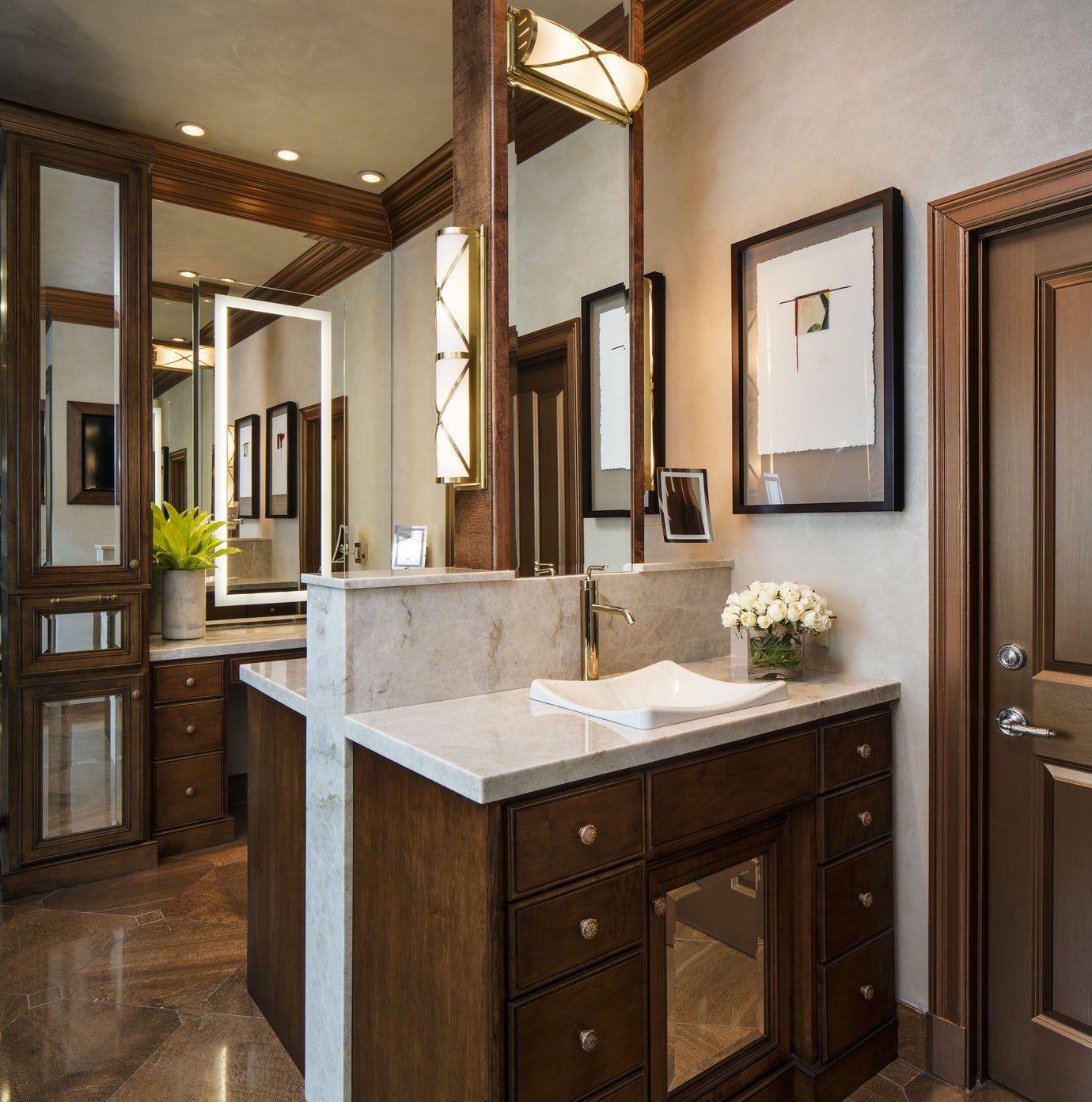 Elegant Transitional House, Master Bathroom Covered in ...