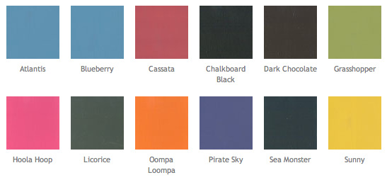 Love These Colours For Chalkboard Paint Who Knew Chalkboard Paint Chalk Paint Colors Porter Paint