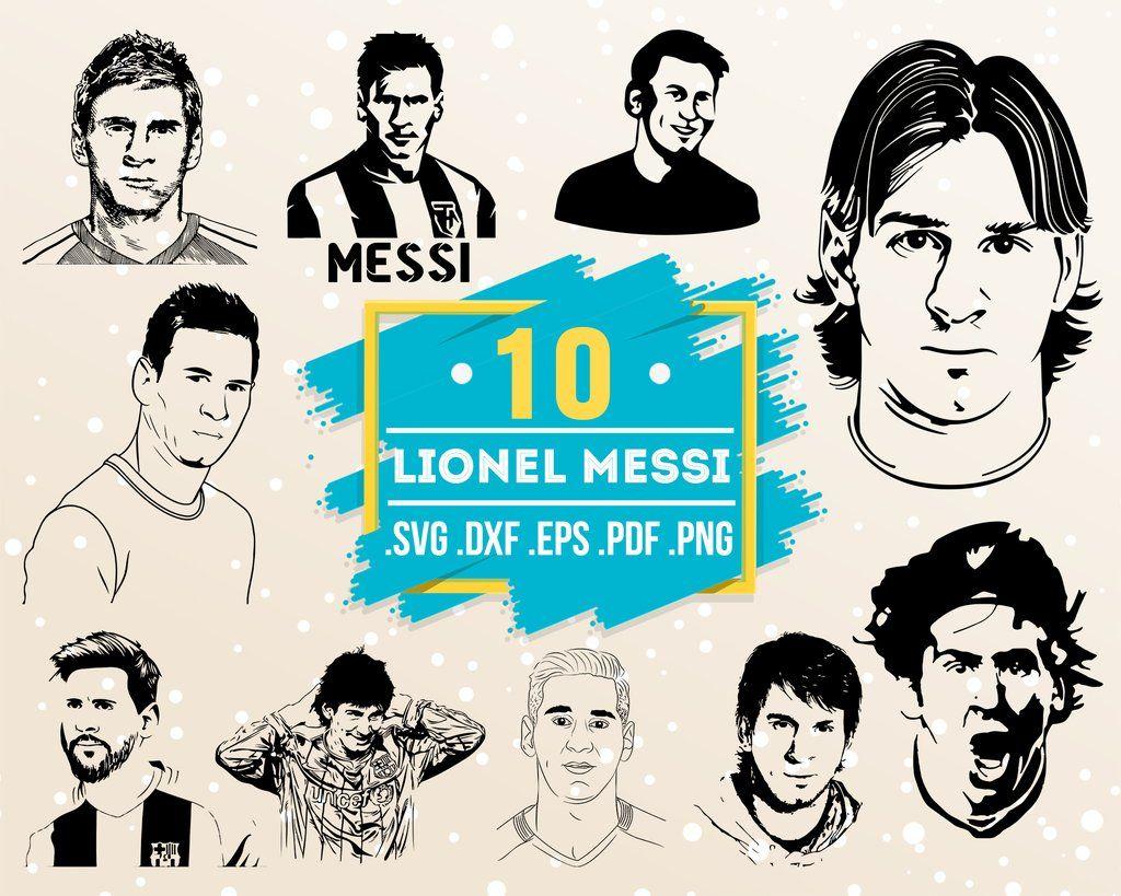 Lionel Messi Svg Famous People Portrait Celebrity Svg Print Art Portrait Art T Shirt Vector File Eps Dxf Svg Pdf Png Business Design Svg Graphic