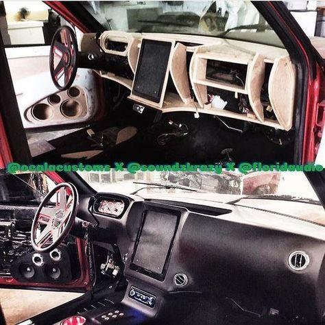 Custom Fiberglass Dash Interior Door Panels Console Tablet Ipad Becausess Custom Car Interior Truck Interior Car Interior