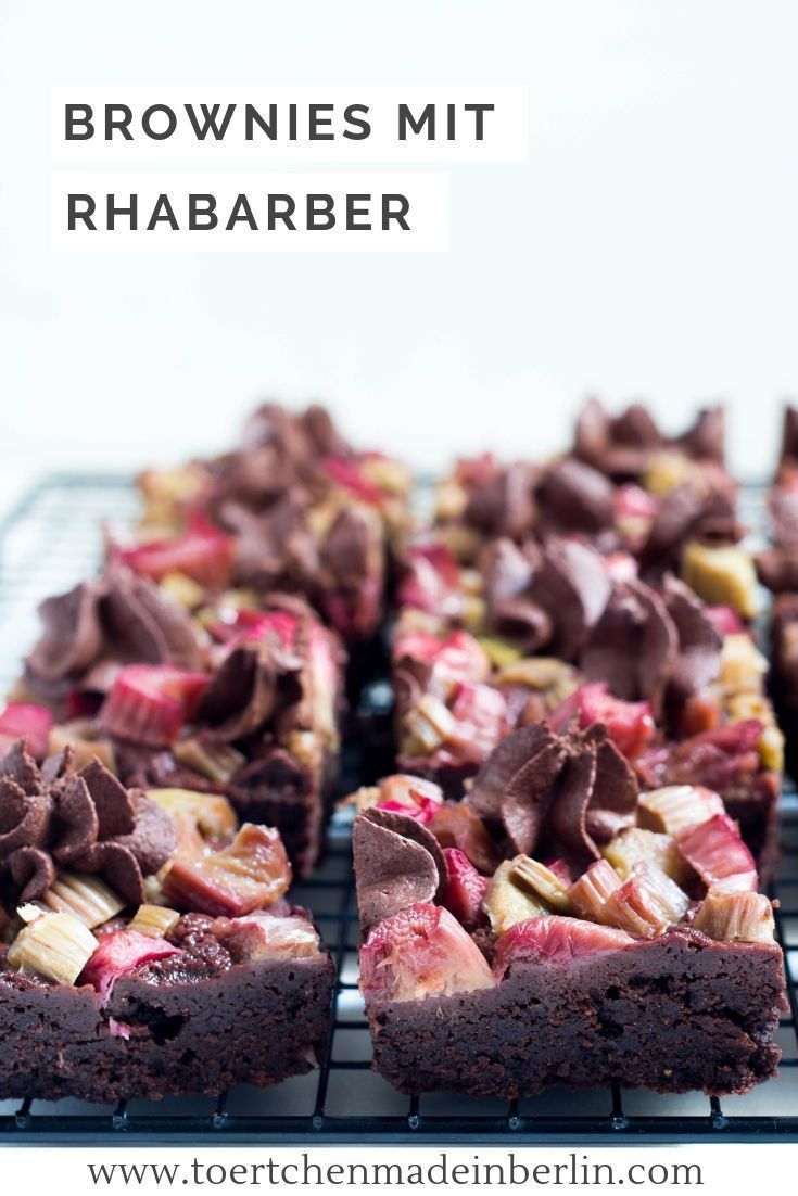 Brownies mit Rhabarber - Törtchen - Made in Berlin