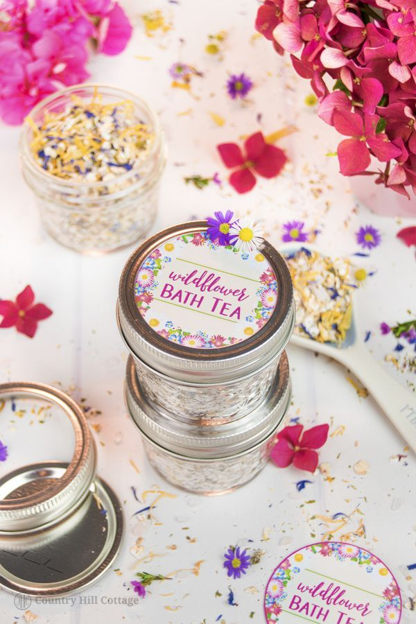 Wildflower Bath Tea Recipe With Free Printable Labels For