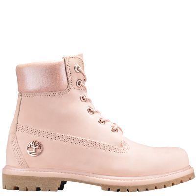 WOMEN S 6-INCH PREMIUM WATERPROOF BOOTS in Light Pink Nubuck  8cdd2e872a823